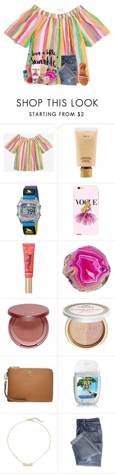 """Quote"" by livnewell ❤ liked on Polyvore featuring tarte, Freestyle, Disney, Too Faced Cosmetics, Tory Burch and Cole Haan"
