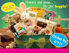 There is still time to get your Easter Gift Baskets!! Easter orders need to be placed by 4/11 for on time delivery. Shop Online: http://forever.labellabaskets.com/
