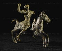 Thracian horseman riding. Treasure of Nikolaev. Bronze (3rd BCE)  Archaeological Museum of Sofia