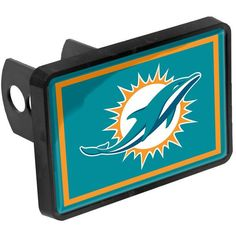 "Miami Dolphins Logo 1.25"" x 2"" Universal Plastic Hitch Cover - $15.99"