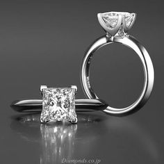 3 Carat Princess Cut Engagement Ring On Hand 28