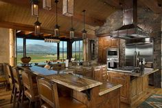 Rustic Kitchens in Mountain Homes-13-1 Kindesign
