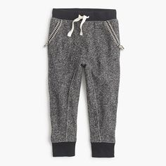 Inspired by the style her brother loves and finished with pretty embroidery around the pockets, this sweatpant is the best of both worlds. Toasty cotton-jersey lining makes it even more cozy for this time of year. <ul><li>Relaxed fit.</li><li>Cotton.</li><li>Elastic waistband with tacked functional drawstring.</li><li>Machine wash.</li><li>Import.</li></ul>