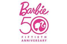 Barbie 50th anniversary logo