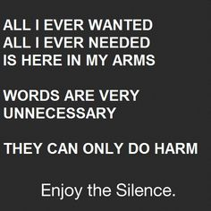 Depeche Mode- Enjoy the silence <3