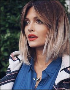 Ombre Bob - Ideas and Tips for the Hit Hairstyle 2019 ., Frisuren,, Ombre Bob - Ideas and Tips for the Hit Hairstyle 2019 Source by Thin Hair Haircuts, Best Short Haircuts, Long Bob Hairstyles, Layered Haircuts, Hairstyles With Bangs, Hairstyle Ideas, Medium Haircuts, Haircut Short, Haircut Bob
