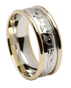 Claddagh Celtic Knot Ring - Two Tone