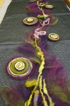 by Wool Water, Wet Felting Projects, Needle Felting Tutorials, Nuno Felt Scarf, Creative Textiles, Textile Fiber Art, Wool Applique, Nuno Felting, Boro, Felt Art