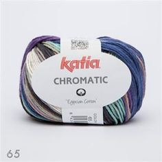 New from Katia for Spring & Summer 2016 .. Chromatic 100% cotton yarn ... divine shades to knit or crochet