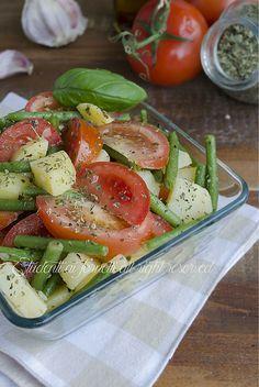 insalata di fagiolini con patate e pomodori ricetta insalata estiva fredda facile e gustosa