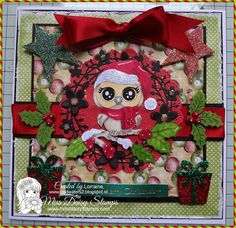 A festive card sure to inspire you for Christmas creating! This is Owl-Ways Winter on a beautiful card sample designed by Lorraine www.coldwaters2.blogspot.com. Thanks Lorraine. Owl-Ways Christmas can be found here with bonus files http://www.missdaisystamps.com/product/owl-ways-winter/ Thank you for visiting. Happy Stamping! Love, Miss Daisy