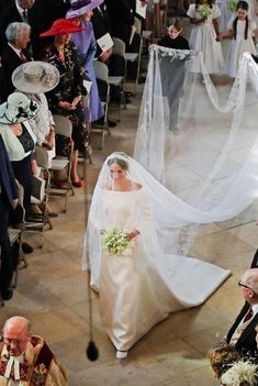 Harry And Meghan Wedding, Prince Harry And Meghan, Wedding Veil, Wedding Gowns, Meghan Markle Wedding Dress, Royal Weddings, Duke And Duchess, Royalty, Givenchy