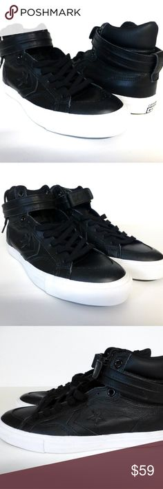 Converse Pro Blaze Plus Hi Top Unisex shoes New Unisex style fits Men's 8 / Women's 10. Leather upper with a hook & loop lockdown strap. Vulcanized rubber outsole. New without tags. Converse Shoes Athletic Shoes