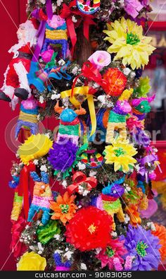 Mexican Christmas Tree Decorations Old San Diego Town California