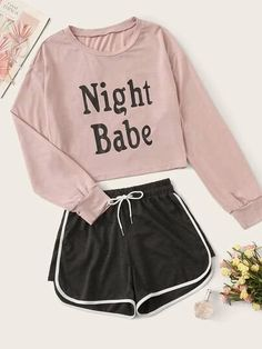 Girls Fashion Clothes, Teen Fashion Outfits, Outfits For Teens, Classy Teen Fashion, School Outfits, Cute Pjs, Cute Pajamas, Cute Lazy Outfits, Stylish Outfits