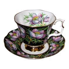 Royal Albert - Prairie Crocus - Teacup Set from auntyannesattic on Ruby Lane