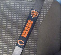 Seat Belt Cover Chicago Bears Football Team Shoulder Pad Refrigerator handle cover, Tote Bag handle Blue Orange Sports Team NFL