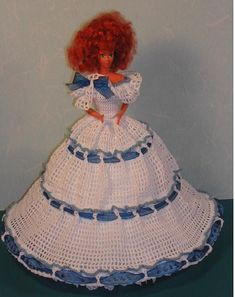 Crochet moda muñeca Barbie patrón  370 BONNIE BLUE