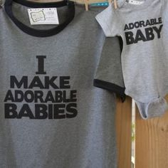 funny new daddy gift set dad and baby matching Dad To Be Shirts, Baby Shirts, Onesies, Baby Kind, My Baby Girl, New Daddy Gifts, Cool Mom Picks, Shower Bebe, New Dads