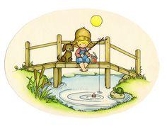 Joan Walsh Anglund - Fishing Hole - Summertime