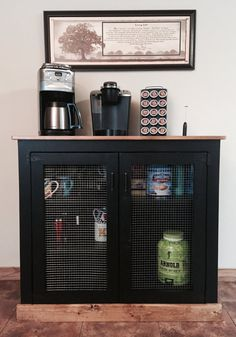 Custom, New, Handmade Pantry and Coffee Center - 43.5W x 14.75D x 38.5H  This is a great addition for hardcore coffee lovers, or those who