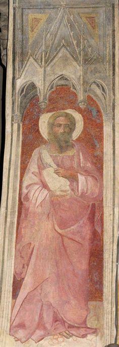 Lorenzo Monaco - San Bartolomeo - affresco - 1420-1424 - Arcone - Cappella Bartolini Salimbeni - Firenze, Basilica della S. Trinità