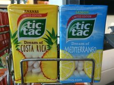 SPOTTED ON SHELVES IN POLAND: Tic Tac Limited Edition Dream of Mediterraneo and Dream of Costa Rica