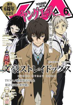 Young Ace cover: Bungō Stray Dogs di Kafuka Asagiri e Hirukawa