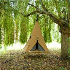 """A hanging A-frame-style/pyramid tent (a la the """"Jungle Hammock"""") 