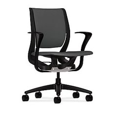 $285b or less     HON® Purpose® Mid-Back Office/Computer Chair, Upholstered, Adjustable Arms, Centurion Iron Ore