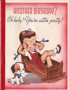 Vintage 1950s Another Birthday Greetings Card
