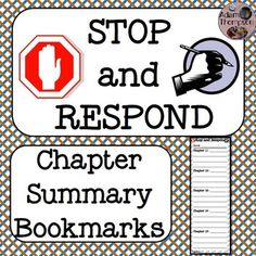 These chapter summary bookmarks offer a place for students to quickly write a brief summary of each chapter of a book as they finish the chapters.  Taking a moment to reflect on the main ideas and important events of chapters as students finish them will help them with comprehension of a novel/chapter book as a whole story.Please leave a rating of this free download below.