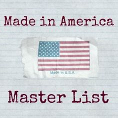 Made in America Master List