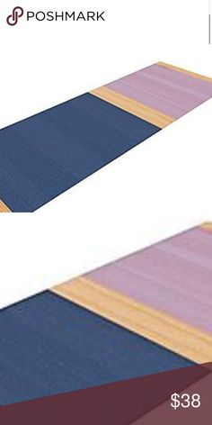 """Rare Spring Swatch - Blue Lavender Purple Wood Release your inner yogi in style with these artistically unique yoga exercise mats. These mats allow you to stretch and pose freely and comfortably as they are 72"""" x 24""""! Made of a durable, textured non-slip backing foam, these 1/4"""" KESS Inhouse Other"""