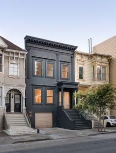 Kasten Builders remodeled a San Francisco Pine Street home to be minimal and modern. Full seismic upgrade, custom detailing and landscaping.
