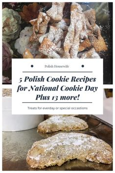 5 Polish Cookie Recipes plus 13 more! Treats for everyday or special occasions. Polish Desserts, Polish Recipes, Polish Food, Banana Dessert, Dessert Bread, Special Recipes, Great Recipes, Holiday Recipes, Favorite Recipes
