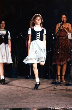 Girl performing an Irish step dance at the 1984 Florida Folk Festival | Florida Memory
