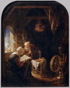 The Bible Lesson, or Anne and Tobias — Gerrit Dou