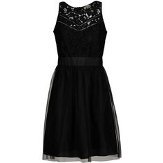 Jolie By Edward Spiers Short Dress ($120) ❤ liked on Polyvore featuring dresses, black, short black dresses, lace mini dress, sleeveless dress, black cocktail dresses and black sleeveless cocktail dress