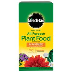 Check this awesome image  The Scotts Company Miracle Grow No.4 Water Soluble All Purpose Plant Food * Gardening DIY