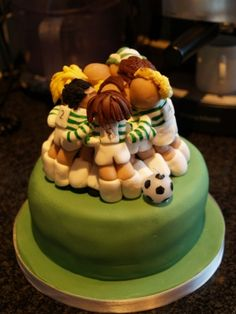 Football Huddle Cake Cakes that inspire me Pinterest Cake