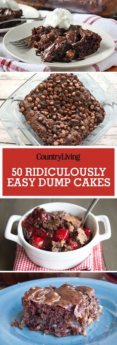 Don't forget to pin these delicious dump cakes! Make sure to follow Country Living on Pinterest for more great dessert recipes.