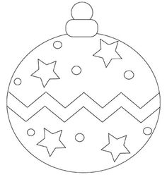Ball Ornament Christmas With Star Coloring Page