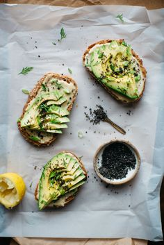 miso tahini avocado toast w/ black sesame gomasio | dolly and oatmeal