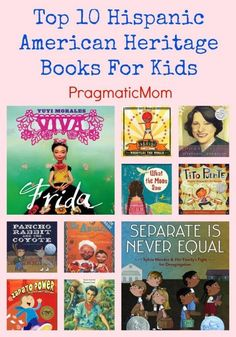 Top 10 Hispanic American Heritage Books for kids. Allowing children to see positive images of themselves. Hispanic American, Hispanic Art, Mexican American, American History, Library Books, Class Library, Dream Library, Kid Books, Elementary Library