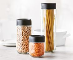 Ensure a clean and efficient cooking space and find a place for everything with our selection of stylish kitchen storage solutions. Food Storage Containers, Jar Storage, Kitchen Must Haves, Kitchen Storage Solutions, Stylish Kitchen, Glass Jars, Mugs, Cooking, Tableware