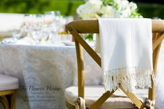 Winery Weddings with breezes, all the ladies get a gifted shawl