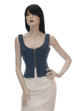 Jean Paul Gaultier, Moschino, Gucci, Vogue, Vest, Denim, Jackets, Vintage, Tops