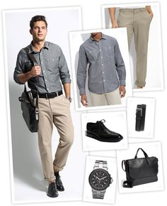 Garb: Working Man    Look good while working hard in this simple-but-stylish, office-ready ensemble.