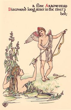 A Fine Arrowhead,discovered along the Rivers edge..by Walter Crane,from A Flower Wedding